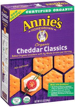 Annie's Homegrown® Organic Cheddar Classics Crackers 6.5 oz. Box