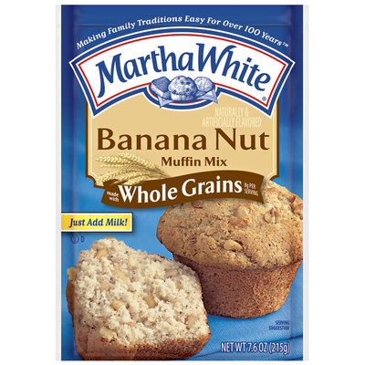 Martha White Banana Nut Made W/Whole Grains Muffin Mix 7.6 Oz Packet