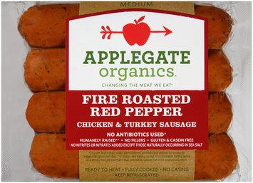 Applegate Organics® Fire Roasted Red Pepper Medium Chicken & Turkey Sausage 4 ct Pack