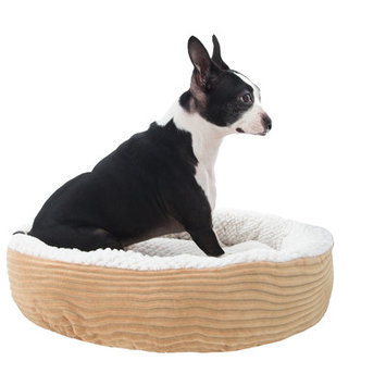 Dr International Caden Pet Bed Bolster Color: Taupe, Size: Small (20