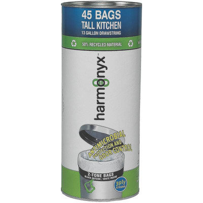 Harmonyx Trash Bags 13 gal. Tall Kitchen Trash Bags (40-Count)