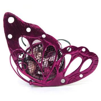 Exhart 8-Inch Cool Winds Butterfly Fan Pink