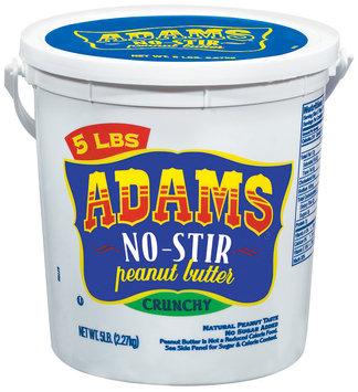 Adams No-Stir Crunchy Peanut Butter 5 Lb Pail