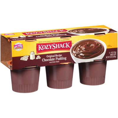 Kozy Shack® Original Recipe Chocolate Pudding 6-4 oz. Snack Cups