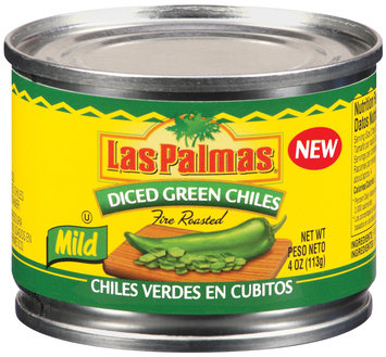 Las Palmas Diced Green Fire Roasted Mild Chiles 4 Oz Can