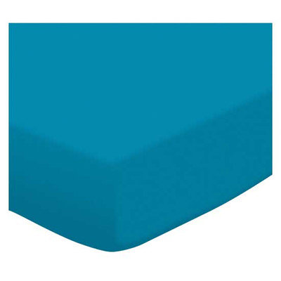 Stwd Jersey Knit Crib/Toddler Fitted Sheet Color: Turquoise