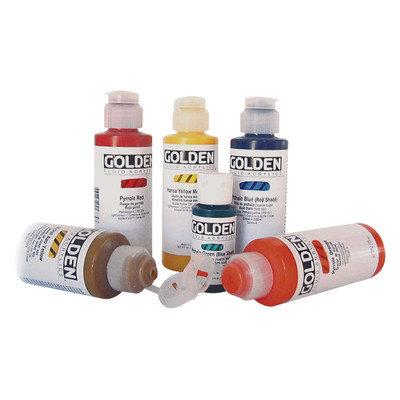Golden Artist Colors 8 Oz Fluid Acrylic Color Paint