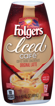 Folgers Iced Cafe™ Original Latte Coffee Drink Concentrate 1.62 fl. oz. Squeeze Bottle