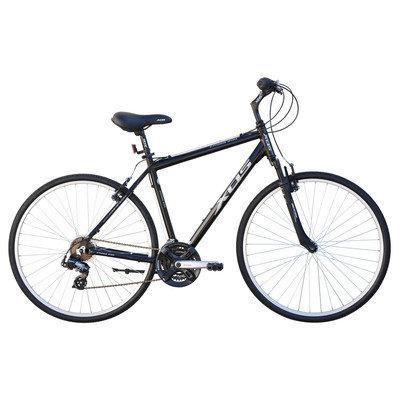 Beachbikes Men's Cross 200 21-Speed Hybrid Bike Frame Color: Black, Frame Size: 46cm