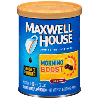 Maxwell House Morning Boost Ground Coffee 11.5 oz. Canister