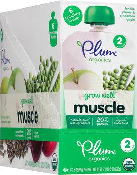 Plum® Organics Grow Well™ Muscle Organic Baby Food 6-3.5 oz. Pouches