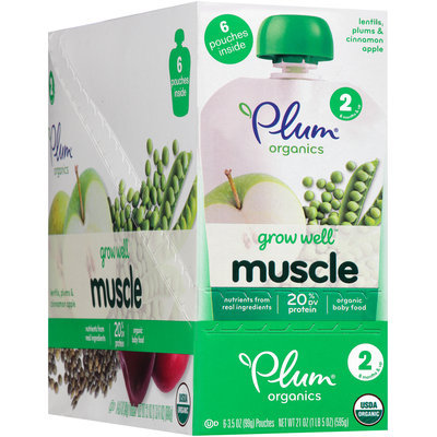 Plum® Organics Grow Well™ Muscle Organic Baby Food 6-3.5 oz. Pouches