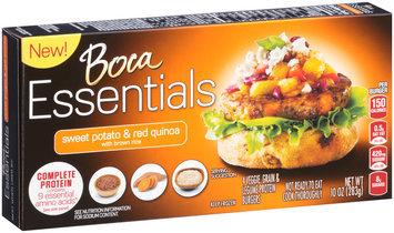Boca Essentials Sweet Potato & Red Quinoa Veggie, Grain & Legume Protein Burgers 4 ct Box