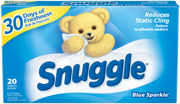Snuggle® Blue Sparkle® Fabric Softener Dryer Sheets 20 ct Box