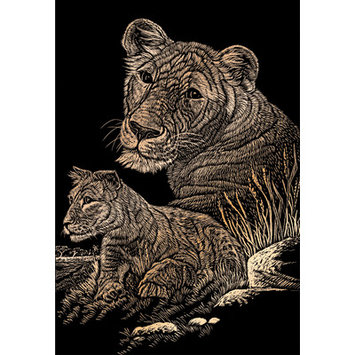 Royal & Langnickel Lioness and Cub Art Engraving