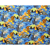 Stwd Sea Fish Pack N Play Fitted Sheet