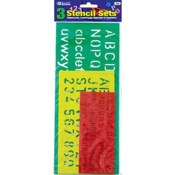 Bazic 38824 10 17 20mm Lettering Stensil Sets Pack of 24