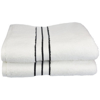 Darby Home Co Hotel Bath Towel Color: Black
