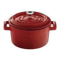 Lava Cookware Signature Enameled Cast-Iron Dutch Oven, 4.75 Qt, Orange Spice