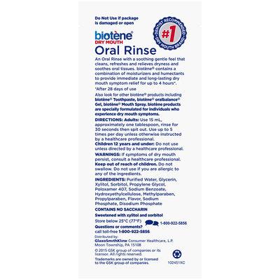 Biotene® Dry Mouth Fresh Mint Oral Rinse 0.5 fl. oz. Bottle