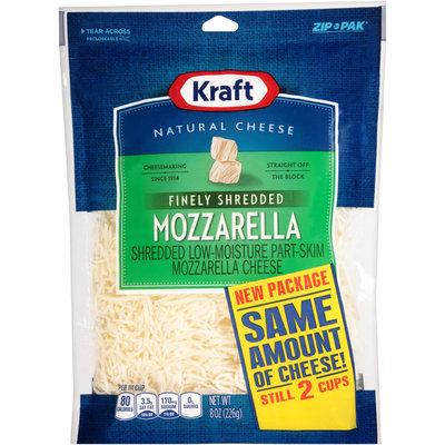 Kraft Finely Shredded Mozzarella Cheese 8 oz. ZIP-PAK®