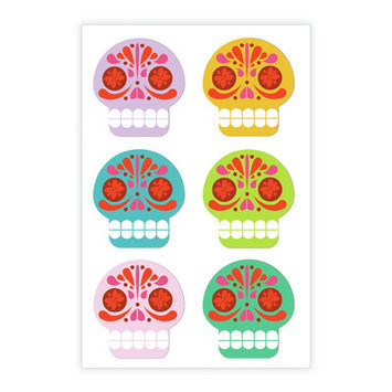 Kikkerland Sugar Skulls Vinyl Magnets