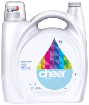 Cheer 2X Ultra Free & Gentle Liquid Laundry Detergent 150 fl. oz. Bottle