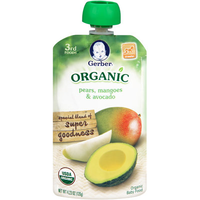 Gerber® 3rd Foods® Organic Pears, Mangoes & Avocado 4.23 oz. Pouch