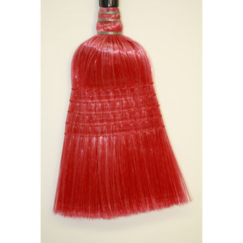 Syr Plastic Broom Head Color: Red