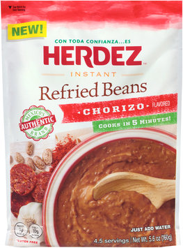 Herdez™ Instant Chorizo Flavored Refried Beans 5.6 oz. Pouch