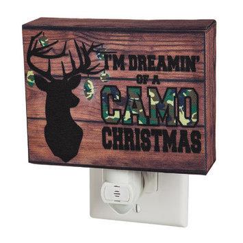 Evergreen Enterprises, Inc Camo Christmas Canvas Nightlight