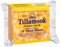 Tillamook® Colby Jack Thick Slices Cheese 12 ct 12 oz Wrapper