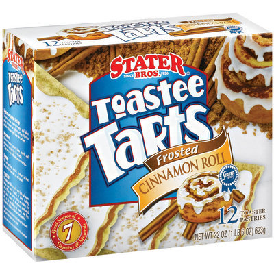 Stater Bros. Frosted Cinnamon Roll 12 Ct Toaster Tarts 22 Oz Box
