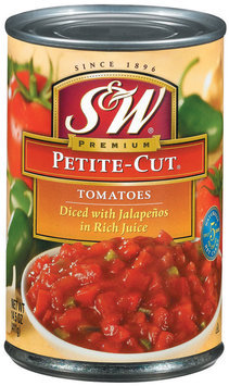 S&W® Petite-Cut Diced Tomatoes with Jalapenos 14.5 oz. Can