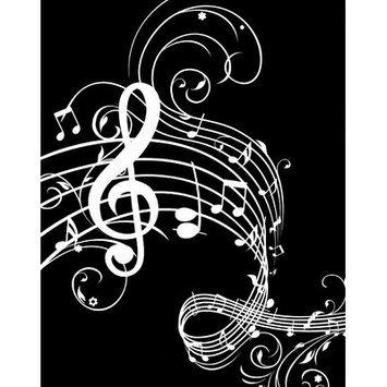 Secretly Designed Music Notes Paper Print, 14 H x 11 W x 0.25 D