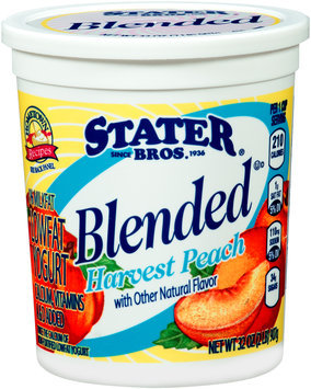 Stater Bros.® Blended Harvest Peach Lowfat Yogurt 32 oz. Tub