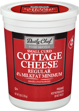 Daily Chef™ 4% Milkfat Minimum Small Curd Regular Cottage Cheese 5 lb. Tub