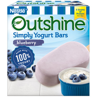 OUTSHINE ® Simply Yogurt Bars, Blueberry, 4 count