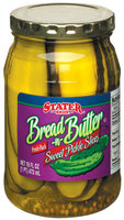 Stater Bros. Sweet Bread 'n' Butter Slices Pickles 16 Fl Oz Jar