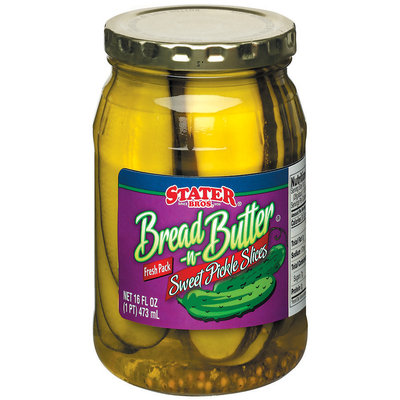 Stater Bros. Sweet Bread 'n' Butter Slices Pickles 16 Fl Oz Jar