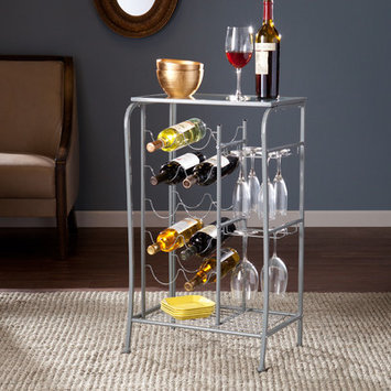 Red Barrel Studio Alzado 10 Bottle Wine Rack Finish: Silver