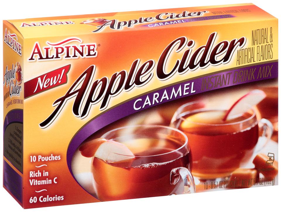 Alpine® Carmel Apple Cider Instant Drink Mix 10 ct. Box