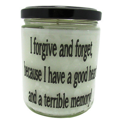 Starhollowcandleco I Forgive and Forget Because I Have A Good Heart and Bad Memory. Snickerdoodle Jar