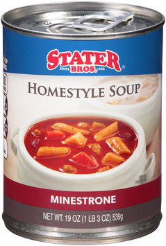 Stater Bros.® Minestrone Homestyle Soup 19 oz. Can
