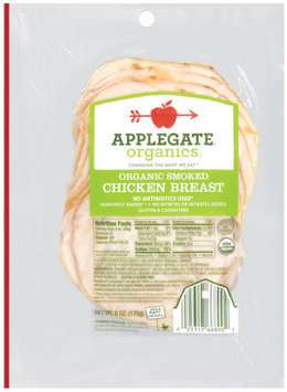 Applegate Farms Organic Smoked (Item Number 00668) Chicken Breast 6 Oz Peg
