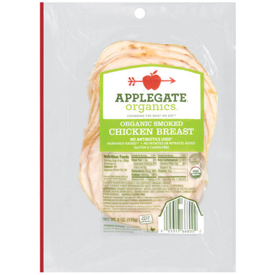 Applegate Farms Organic Smoked (Item Number 00668) Chicken Breast 6 Oz Peg