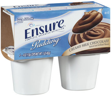 Ensure Creamy Milk Chocolate Pudding 4ct, 4 oz Cups