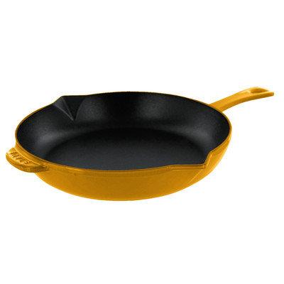 Staub Frying Pan Color: Saffron, Size: 12