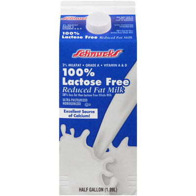 Schnucks® 100% Lactose Free Reduced Fat Milk 0.5 gal. Carton