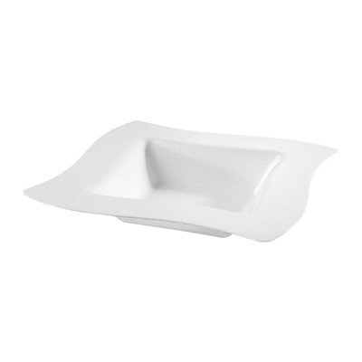Fineline Settings, Inc Wavetrends 12 oz. Square Wavy-Edge Bowl (Pack of 120), White